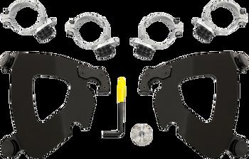 Memphis Shades - Trigger-Lock Mount Kit - Polished fits '14-'16 FXDL