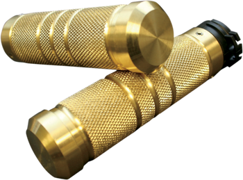 Accutronix - Custom Grips - Knurled/Grooved, Brass Dual Cable  fits HD Models (see desc.)