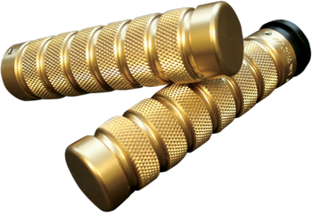 Accutronix - Custom Grips - Knurled/Notched, Brass Dual Cable  fits HD Models (see desc.)