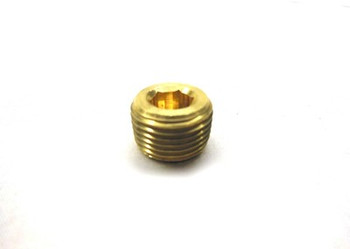 "Countersunk Allen Pipe Plug 3/8"" NPT - Brass"