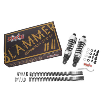 Burly Brand - Chrome Slammer Suspension Lowering Kit - fits '91-'05 Dyna (exc. FXDWG)