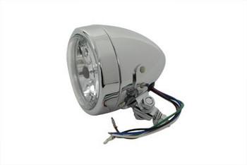 """Chopper & Bobber 4"""" Headlight - Chrome"""