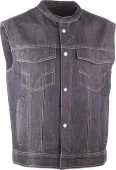 Highway 21 - Iron Sights Denim Vest - Club Collar