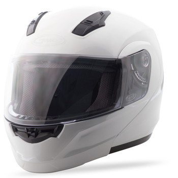 GMAX - MD04 Modular Motorcycle Helmet - Pearl White