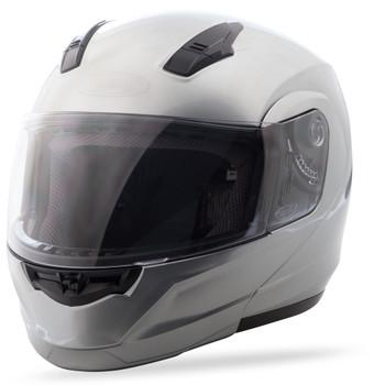 GMAX - MD04 Modular Motorcycle Helmet - Metallic Silver