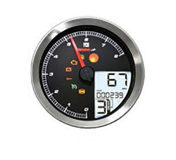 Koso North America - LCD Color Change Speedo and Tachometer - fits '14-Up Sportsters, '12-Up Dynas, and '11-Up Softails