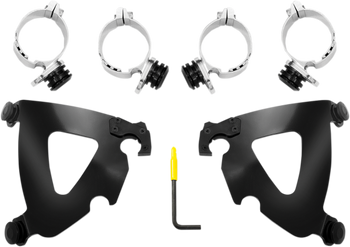Memphis Shades Road Warrior Trigger-Lock Mount Kit - fits '06-'17 Dyna Models (Choose Finish)