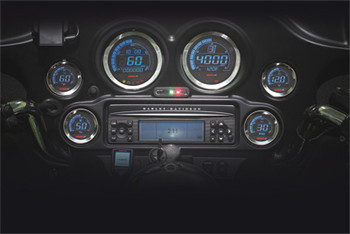 Koso North America - Digital Harley Guage Cluster - fits '04-'13 FLTR, FLHX, and FLHT Models