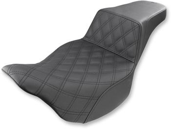 Saddlemen - Step-Up Front Diamond Stitched Seat - fits '08-'17 FLHT/FLHR/FLTR/FLHX