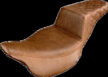 Saddlemen - Step-Up Rear  Diamond Stitched Seat - fits '08-'17 FLHT/FLHR/FLTR/FLHX