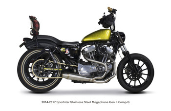 Two Brothers Racing - 2-into-1 Gen-II Exhaust - fits '14-'17 XL