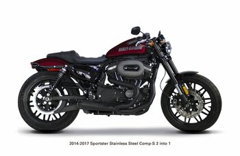 Two Brothers Racing - 2-into-1 Comp-S Exhaust - fits '14-'18 XL