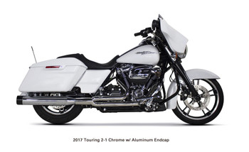 Two Brothers Racing - 2-into-1 Comp-S Exhaust - fits 2017 FLH, FLT