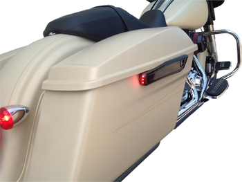 Alloy Art - Lighted Saddlebag Hinge Covers - fits '14-'17 FLHT/FLHR/FLHX/FLTRX