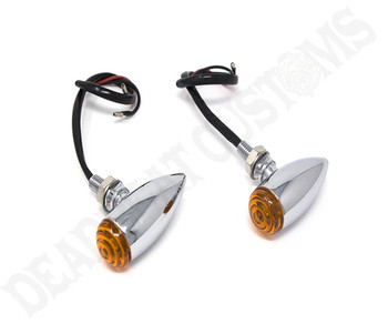 Motorcycle Supply Co. - Speeder Turn Signals  - Chrome