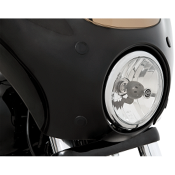 Memphis Shades - Headlight Extension Block - fits '06-'17 Dyna (exc. '14-'17 FXDL, '08-'17 FXDF, and '12-'17 FLD)