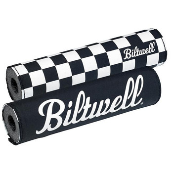 Biltwell Moto Bar Pad - Checkers/Script Black