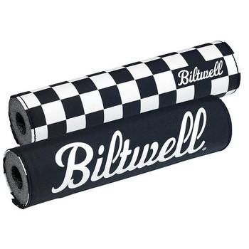 Biltwell Moto Bar Pad - Checkers/Script Black
