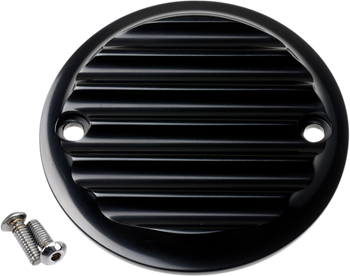 Joker Machine - Black Points Cover - fits '70-'99 Big Twin - Finned