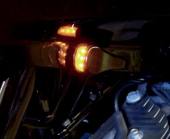 Alloy Art - LED Front Signal Lights - fits Harley FLTR Road Glide