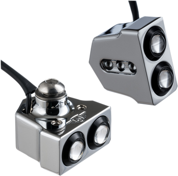 Joker Machine - Dual Rat Eye LED Turn Signals - Side Mount - Black or Chrome