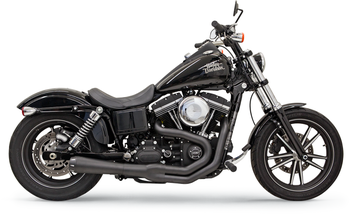 Bassani - Road Rage II Mega Power 2-into-1 Exhaust System - fits Harley '99-'17 FXD