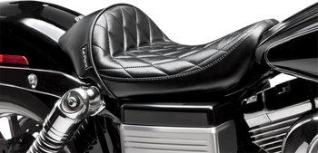 Le Pera - Stubs Cafe Seat - fits '06-'17 Harley FLD/FXD/FXDWG