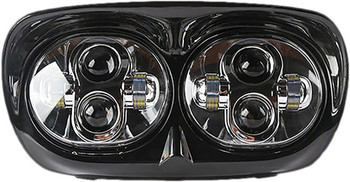 Pathfinder - '04-'13 Harley FLTR Road Glide LED Headlight - Black or Chrome