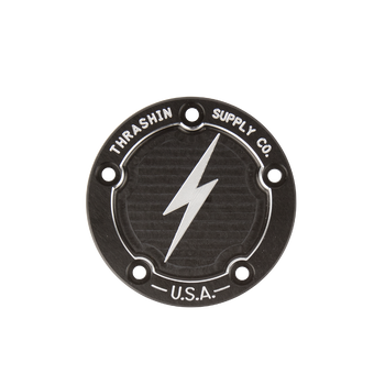 Thrashin Supply Harley Points Cover, Dished