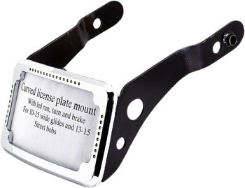 Cycle Visions - Curved Slick Signal License Plate Frame and Mount - fits '13-'17 FXDB