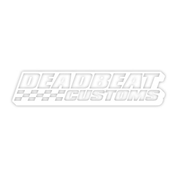 Deadbeat Customs -  Race Vinyl Decal - White