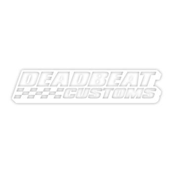 Deadbeat Customs -  Race Vinyl Decal - White