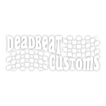 Deadbeat Customs - Trippin' Vinyl Decal - White