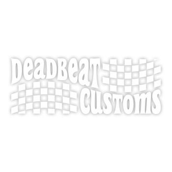 Deadbeat Customs - Trippin' Vinyl Decal - White