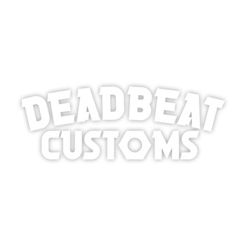 Deadbeat Customs - Nut 2 Vinyl Decal - White
