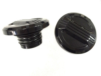 V-Twin - Air Flow Gas Cap Set - Vented and Non Vented - Black or Chrome