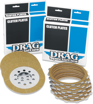 Drag Specialties - Kevlar, Organic, or Steel Clutch Plates - Fits '99-'17 Harley Twin Cam