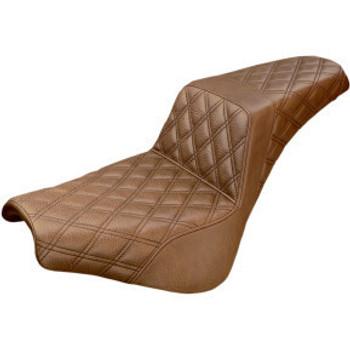 Saddlemen - Step Up Full Lattice Stitch Seat - fits '18-'20 FXBB Models (Brown)