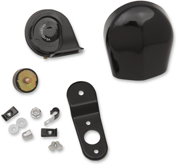 Drag Specialties - Electrical Horn Kit - fits Harley Models - Black or Chrome
