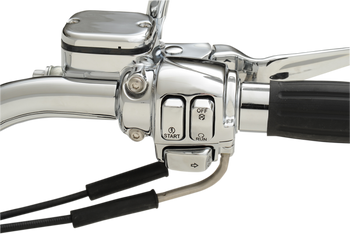 Drag Specialties - Chrome Switch Cap Kits - fits '00-'13 Harley Models