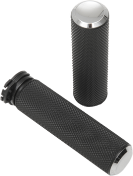 "Arlen Ness - Knurled Fusion Dual Cable Grips - fits 1"" Bars (Choose Finish)"