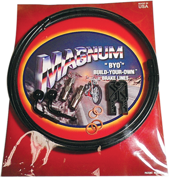 Magnum - Braided Black Stainless Steel Dual Disc Brake Line Kits - Fits Harley Touring & Softail Models