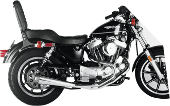 SuperTrapp - Megaphone 2-into-1 Exhaust System - fits '86-'03 Harley Sportster