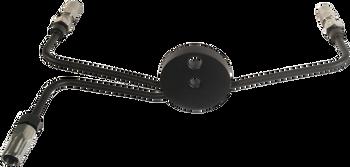 Magnum - BYO Universal Brake Lines - Black Brake Tee - fits Harley Models