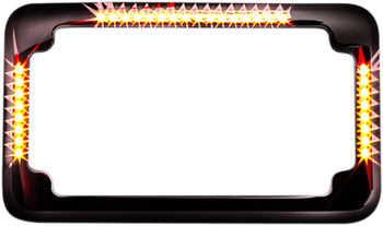 Cycle Visions - Slick Signals License Plate Frames - Black or Chrome