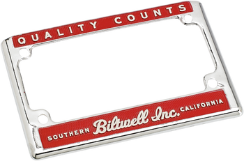 Biltwell License Plate Frames - Choose Style