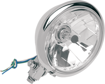 "Drag Specialties - Diamond-Style Bottom-Mount 5 3/4"" Headlight Assemblies for Springer"