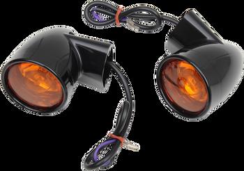 Drag Specialties - Bullet-Style Turn Signals - fits '99-'20 FLT/ FLHT & '00-'17 FLSTC Models
