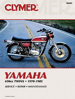 Clymer - Yamaha 650cc Twins XS650 1970 - 1982 Service Manual