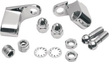 Drag Specialties - Chrome Front Turn Signal Mount Kit - Fits '03 -'17 FXD/Softail; '86 -'03 XL